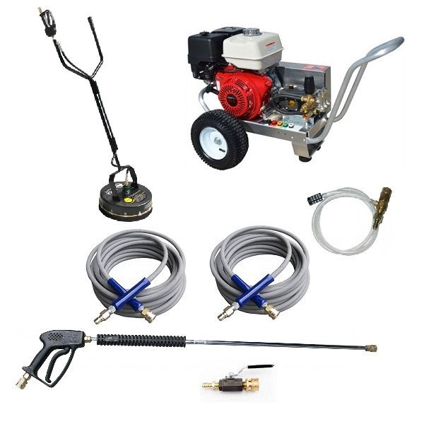 GX390 Honda 4 GPM 4200 PSI Belt Drive Commercial Pressure Washer Heavy Duty AR Viper Pump Aircraft Aluminum Frame Pro Pack Whisper Wash 20