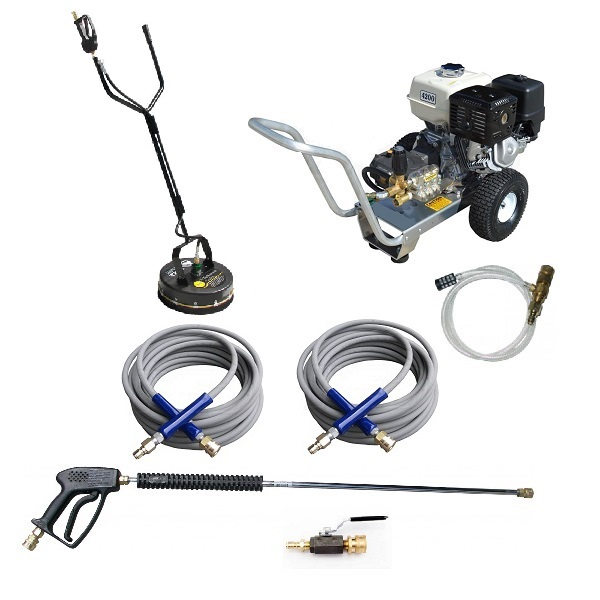 GX390 Honda 4 GPM 4200 PSI Commercial Pressure Washer Heavy Duty AR Viper Pump Aircraft Aluminum Frame Pro Pack Whisper Wash 20
