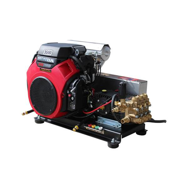 GX690 HONDA ELECTRIC START 8 GPM 3500 PSI HEAVY DUTY COMMERCIAL BELT DRIVE  GENERAL PUMP SKID MOUNT PRESSURE WASHER