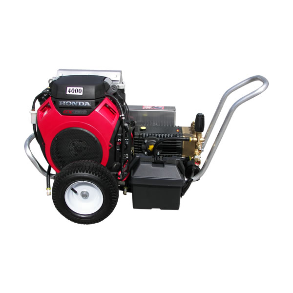 GX 630 HONDA ELECTRIC START 5 5 GPM 4000 PSI HEAVY DUTY COMMERCIAL BELT  DRIVE GENERAL PUMP POERTABLE PRESSURE WASHER